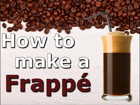 Here's a video on how I make a Greek Frappé. Enjoy.  Ingredients: 1 cup water (250ml) 2 tsp Nescafe coffee (10ml)  1 tbs water (15 ml) 2 1/2 tsp white sugar (12.5ml). Ice (cubes/crushed) 1 glass (250ml) 1 Frother 1 Straw  Method: 1. Add the coffee, sugar and 1tbs water to the glass 2. Froth the mixture well until creamy and light brown 3. Add the water to the glass and froth the mixture again slowly 4. Add the ice and then stir with a straw 5. Let the Frappé settle and enjoy!