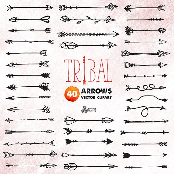 This set of 40 hand drawn vector arrows clipart in hires. This listing is for Personal and small business commercial use. All design are digital