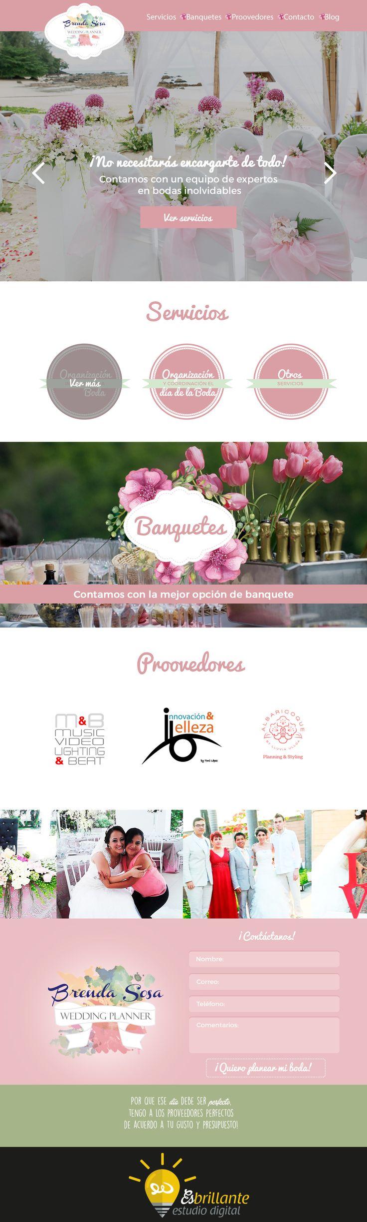 Diseño de página web para Brenda Sosa de Wedding Planner, #diseñoWeb