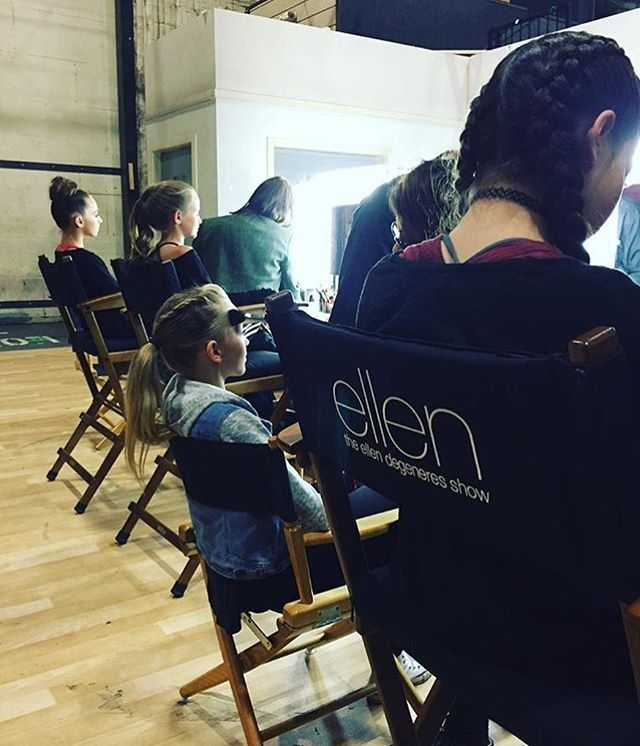 Brynn getting her makeup done at The Ellen Show today! She will be performing with Dancer Palooza & the episode will air on Thursday (28th) • #dancemoms #dancemoms1 #spoilers #dmos_rumfallo
