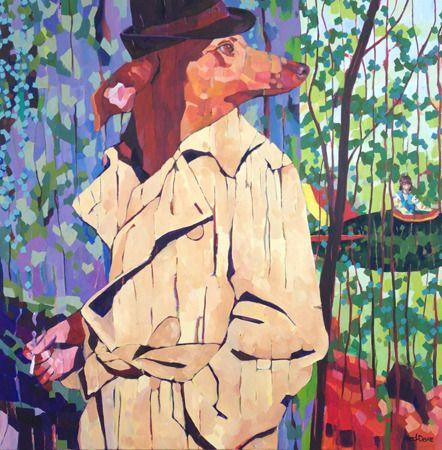 Melissa  Read-Devine  Stop Doggin Me Around  - 2014   Acrylic on canvas   92 x 92 cm