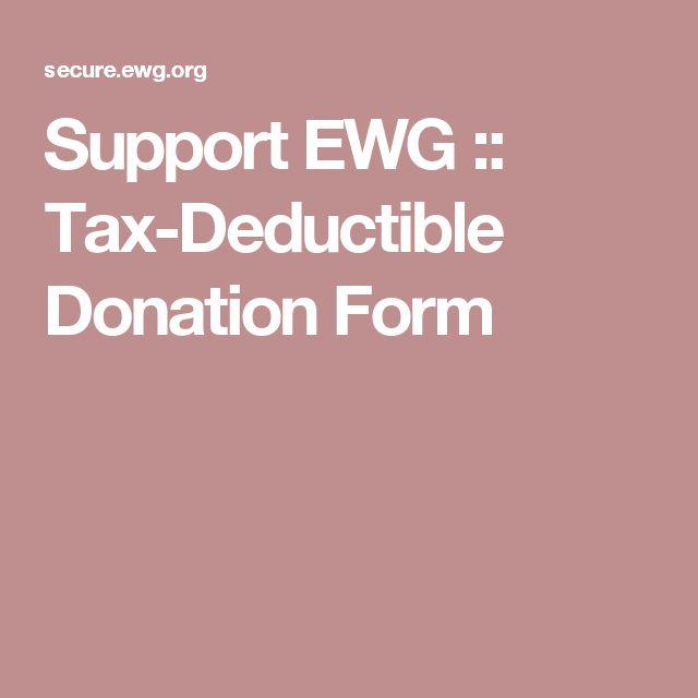 Support EWG :: Tax-Deductible Donation Form