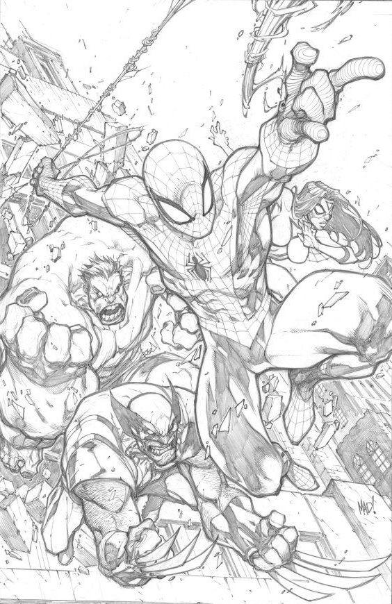 AVENGING SPIDER MAN by Joe Madureira by ~lemon0 on deviantART