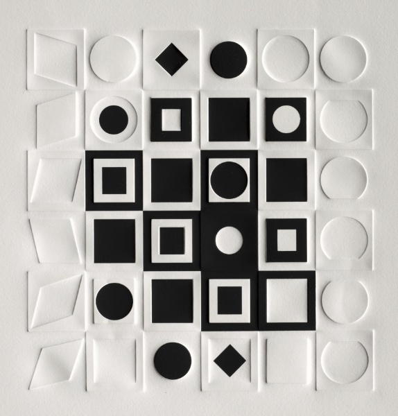 G-FF · embrossed screenprint · victor vasarely ·1967