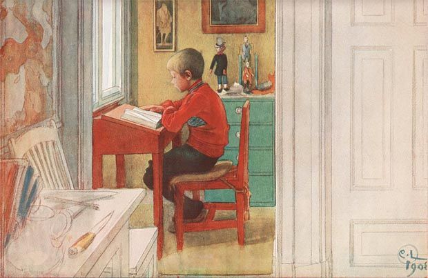 The New Book, by Carl Larsson