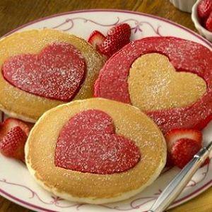 pannenkoeken hart rode kleurstof - Google zoeken