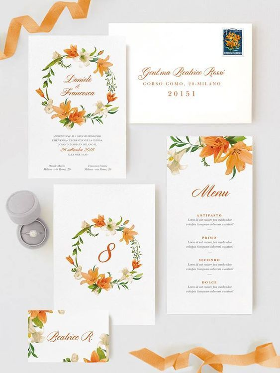 20 Amazing Cheap Home Decor Ideas: 20+ Amazing Summer Wedding Invitations: Orange Floral