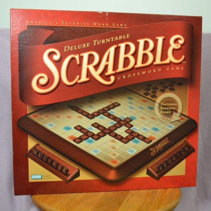 SCRABBLE DELUXE Crossword Turntable Game 2001 Hasbro Parker Brothers COMPLETE #Hasbro