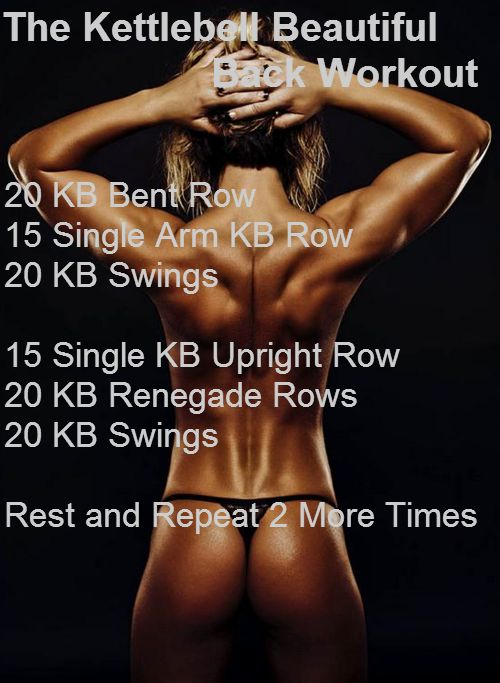 Get A Sexy Back With This Awesome Kettlebell Back Workout | Femme Fabulous| Women's Fitness and Health blog|