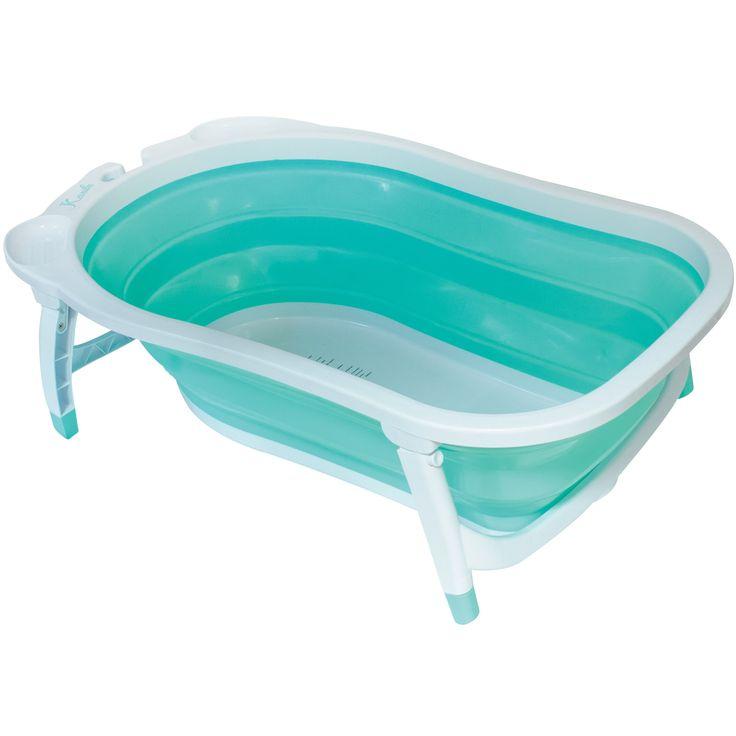 Baignoire bébé pliable turquoise : BabySun - Berceau Magique