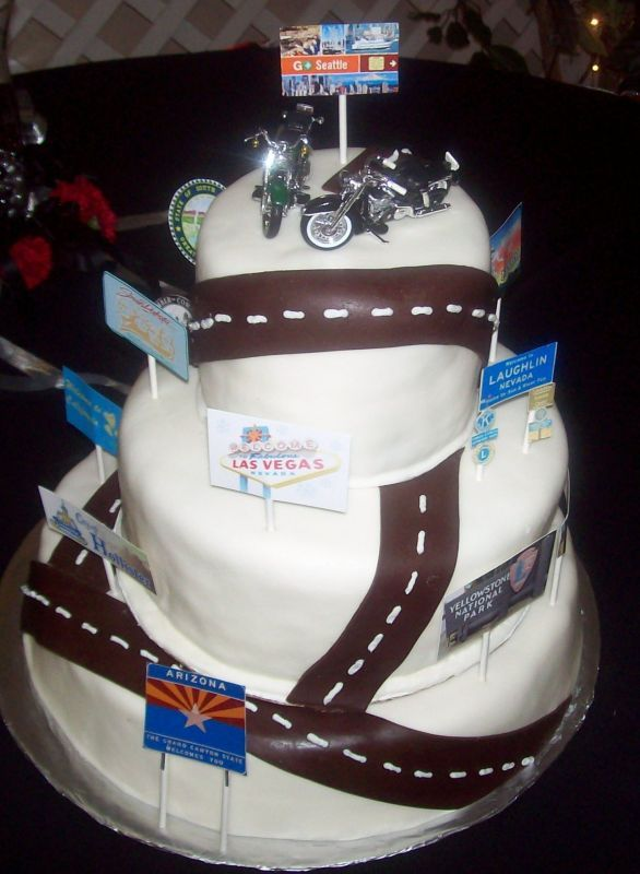 Motorcycle Wedding Cake Toppers Harley Davidson