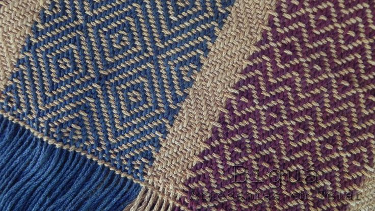 Jugando con texturas y guardas en el #telar  http://bigua-telar.blogspot.com.ar/