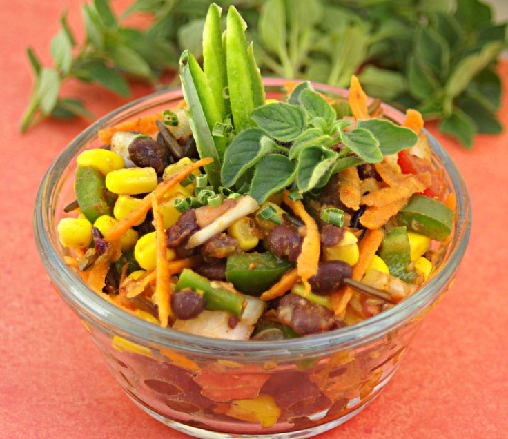 Black Bean Salad - Serve as the main dish or as a side. This salad is easy to make and lasts really well in the fridge.      #low calorie #Healthy Recipes #gluten free