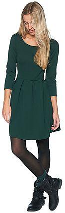 Jersey-Kleid mit Jaquard-Struktur für Frauen (unifarben, 3/4-Ärmel und Rundhals-Ausschnitt) - TOM TAILOR