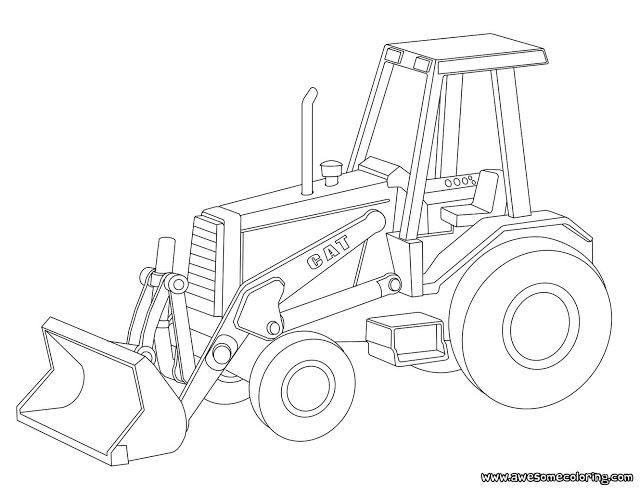 Caterpillar Bulldozer Coloring Page Heavy Machinery