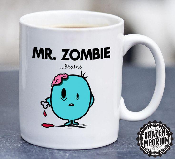 Mr Zombie, Mr Men Inspired Funny Coffee - Tea Mug by BrazenEmporium on Etsy https://www.etsy.com/listing/247689997/mr-zombie-mr-men-inspired-funny-coffee