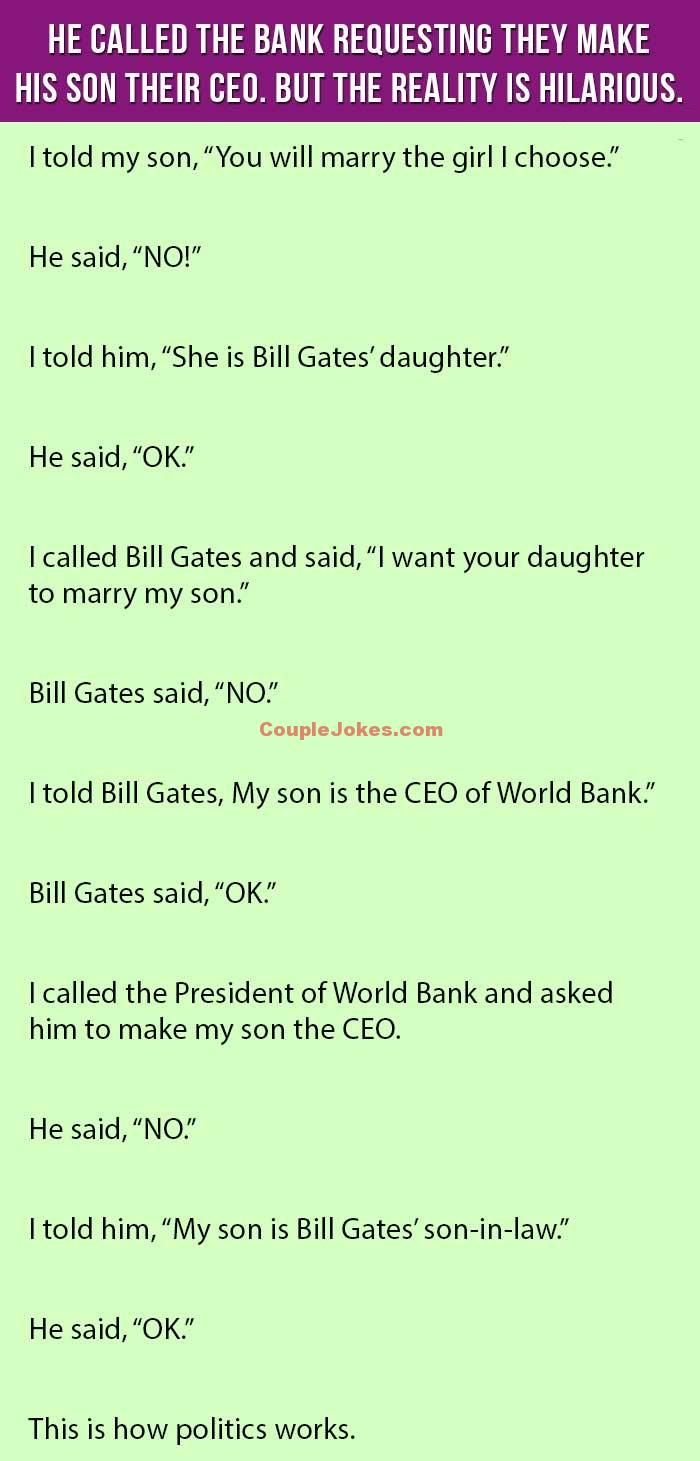 He Called The Bank Requesting They Make His Son Their CEO. But The Reality Is Hilarious.