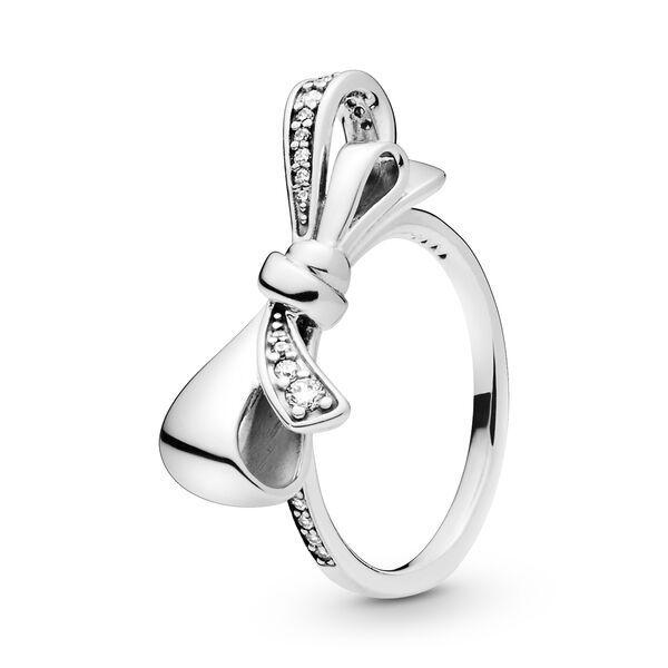 anello pandora fiocco scintillante