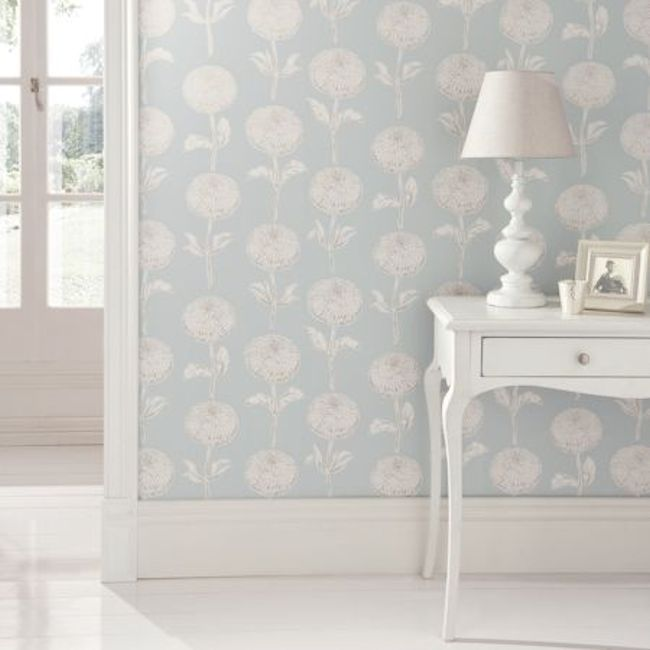 Showstoppers Collection  – Dahlia design by Clarke & Clarke.  wallpapershop.com.au