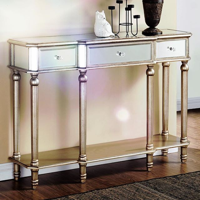 Just because your laundry room is a workspace doesn't mean you can't add special touches to make it unique.  Try an accent piece like the Eden Console Table in Silver to make a shiny statement! (Plus it's great for storage)   http://inspireathome.com/accent-furniture/console-tables-cabinets/eden-console-table-in-silver.html