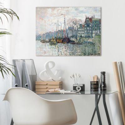 Leinwandbild Claude Monet - Kunstdruck Blick auf die Prins Hendrikkade und die Kromme Waal in Amsterdam - Impressionismus 120x160x2-170.00-LB-3-4 Jetzt bestellen unter: https://moebel.ladendirekt.de/dekoration/bilder-und-rahmen/poster/?uid=9151f94a-fc1c-589c-af87-1b986ae029f6&utm_source=pinterest&utm_medium=pin&utm_campaign=boards #heim #bilder #rahmen #poster #dekoration