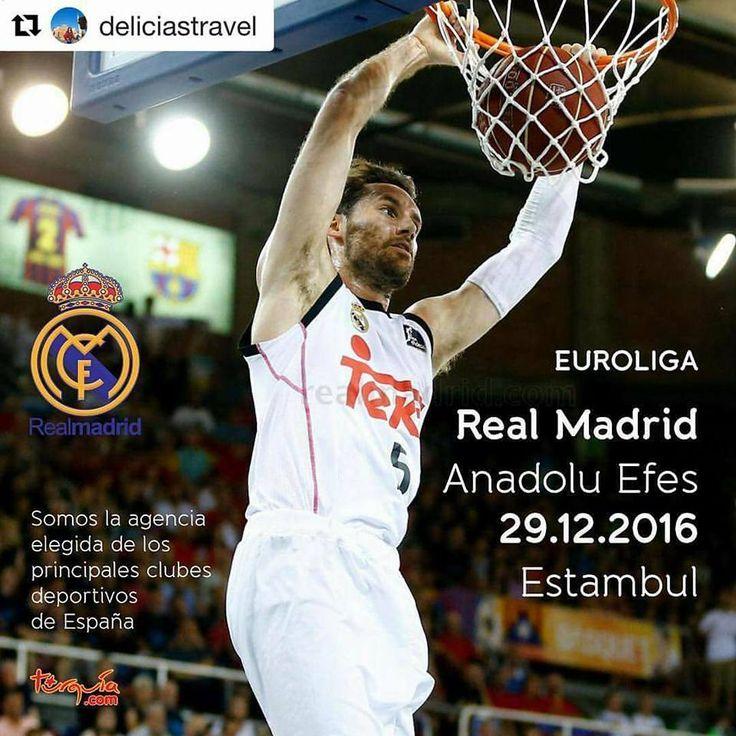 Barcelona'dan sonra Euroleague 2016 nin son macinda Real Madrid'e de ev sahiligi yapiyoruz. After Barcelona, we are hosting Real Madrid at the last game of Euroleague 2016.  Euroleague ultimo partido del 2016 #realmadrid #anadoluefes #euroleague #basketball #baloncesto #estambul #turquia #eresinhotels #thy #turob @eresin_hotels_istanbul @deliciastravel @estambul.turquia @turoborg @turkishairlines