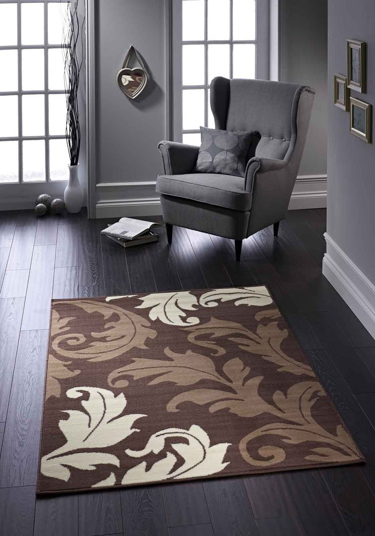 Premium quality rug with impressive floral designs. #floralrugs #greyrugs #durablerugs #modernrugs