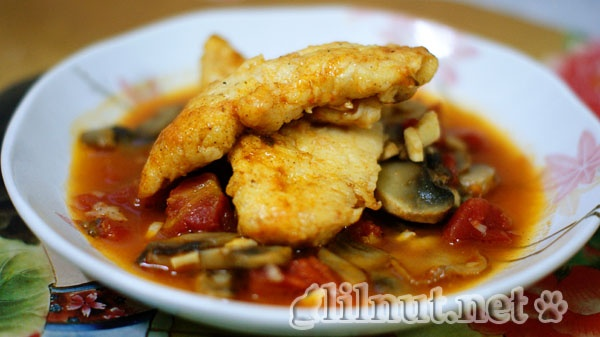 Chicken with Tomatoes and Mushrooms | Food - Birds | Pinterest