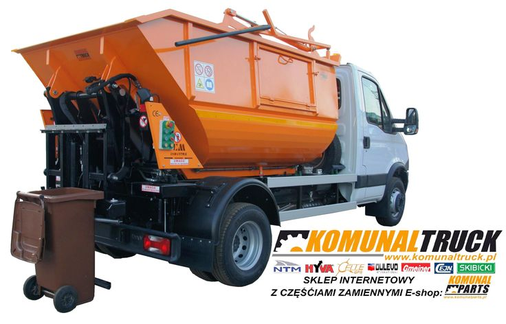 KVC IVECO DAILY mikro śmieciarka 7m3 na podwoziu 7DMC. Small refuse truck, rear loader, satellite garbage vehicles, klein Kommunalfahrzeuge, Benne a ordures, Recolectores, piccoli camion, Carico posteriore