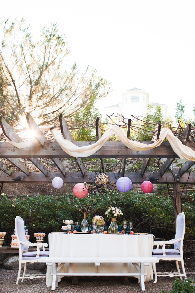 Disney Tangled inspired wedding table settings and wedding decor
