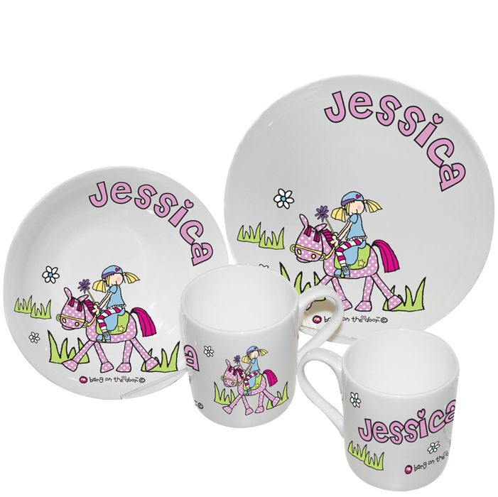 Personalised Bang on the Door Breakfast Set - Pony Girl  Bang on the Door collection In Stock Now - 24 Hour Despatch.  sc 1 st  Pinterest & 14 best Personalised Breakfast Sets images on Pinterest | Breakfast ...