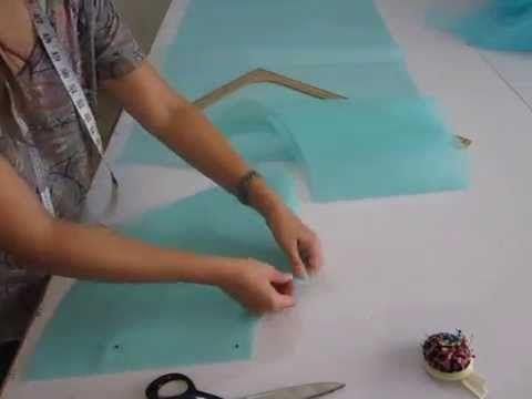 Corte de tela tul, para faldilla o crinolina, para volumen de falda circular completa para un vestido de XV-novia.