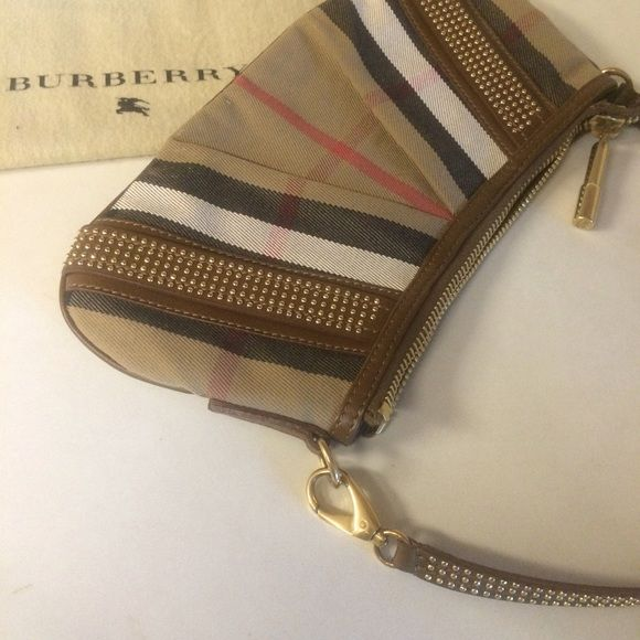 """Rock Stud Burberry Bag Classy Burberry Bag with an edge! In pristine condition! No flaws! Measurements : 11""""x 5.5"""" Comes with original dust bag Burberry Bags Shoulder Bags"""