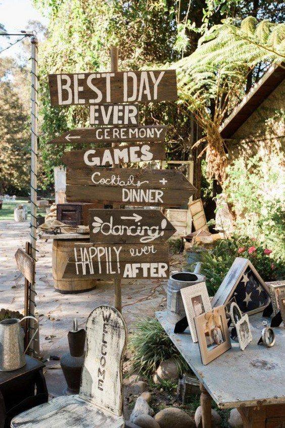 Antique Farm Wedding Sign / http://www.deerpearlflowers.com/country-rustic-fall-wedding-theme-ideas/