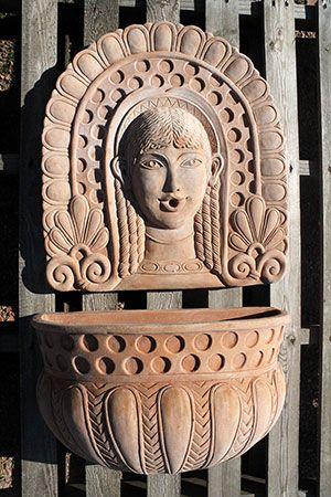 """""""Fontana etrusca""""  #etruscan_fountain #terracotta_fountain #fontana_terracotta_impruneta"""