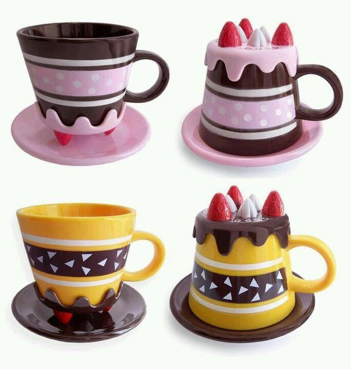 Cute mugs. I can imagine Honey senpai having the cake mug...