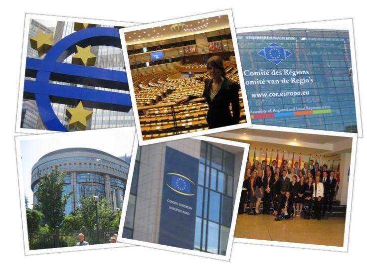 Europareis 2011: Met medestudenten en docenten European Studies en Bestuurskunde op bezoek bij diverse Europese instellingen in Brussel, Luxemburg en Frankfurt, waaronder het Europees Parlement, de Europese Centrale Bank, het Comité van de Regio's, de Europese Raad, de Europese Investerings Bank en de Europese Rekenkamer
