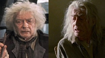 12 september 2012: O. nieuw  Foto: John Hurt als Mr. Ollivander in Harry Potter and the Sorcerer's Stone leek in Harry Potter and the Deathly Hallows: Part 1 wel een ander mens die in veranderde omstandigheden heel andere dingen deed.