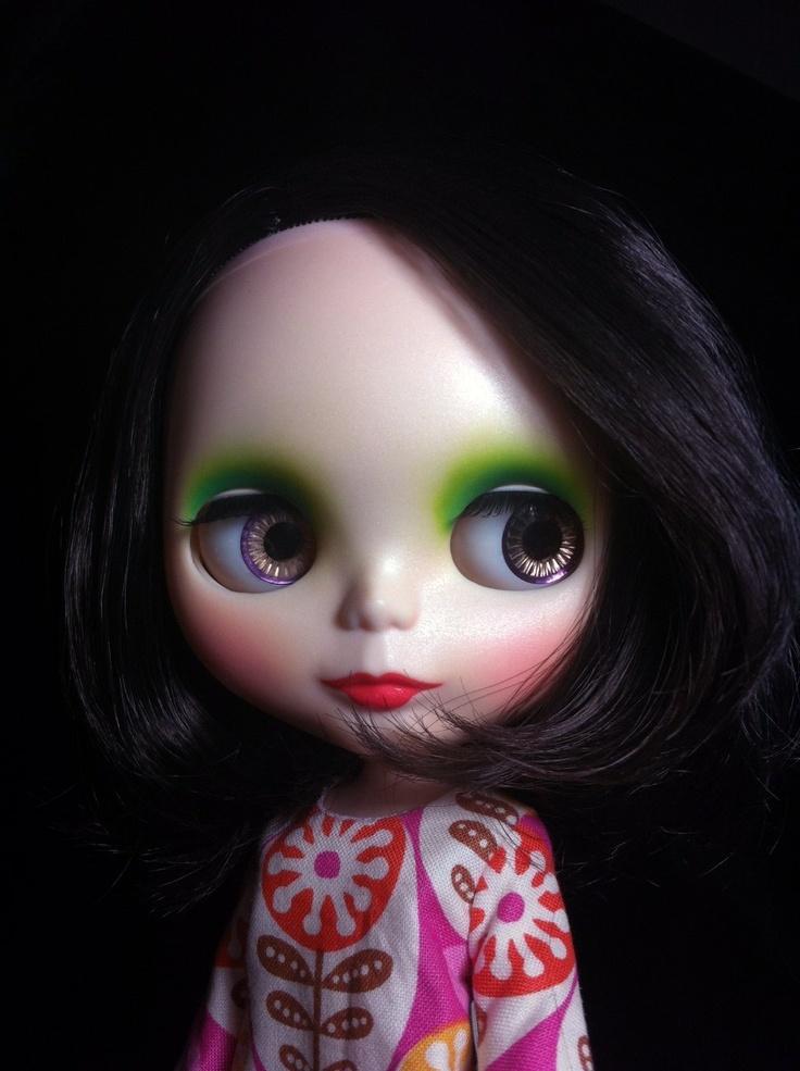 8 Kinder Blythe Natural Custom Cute Black Cute Bob Hair Gentle River Make Up   eBay