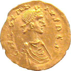 monnaie à leffigie de clothaire II qui régna en france au 7 ième siècle de notre ère !