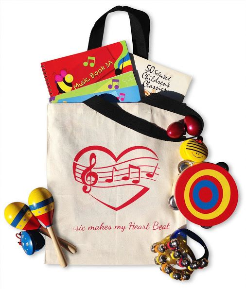 || Personalized Music Tote Bag. The perfect gift for music and entertainment enthusiast.  All around lightweight tote bag to hold sheet music back and forth to lessons. Can be personalized with a teacher or student name for a keepsake gift || http://salsaandgigi.com/ || #musicbags #multipurposebags #kidsaccessorybag #salsaandgigi #musicalinstruments #kidslibrarybag #organizing #music #personalizedbag