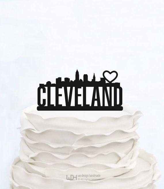 CAKE TOPPER CLEVELAND_Scritta personalizzata di WeDesignHandmade