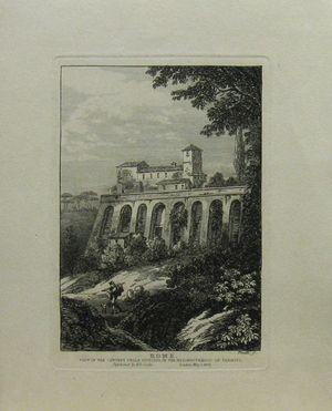 Rome. View of the Convent Della Vittoria in the Neighbourhood of Termini. by Bartolomeo Pinelli