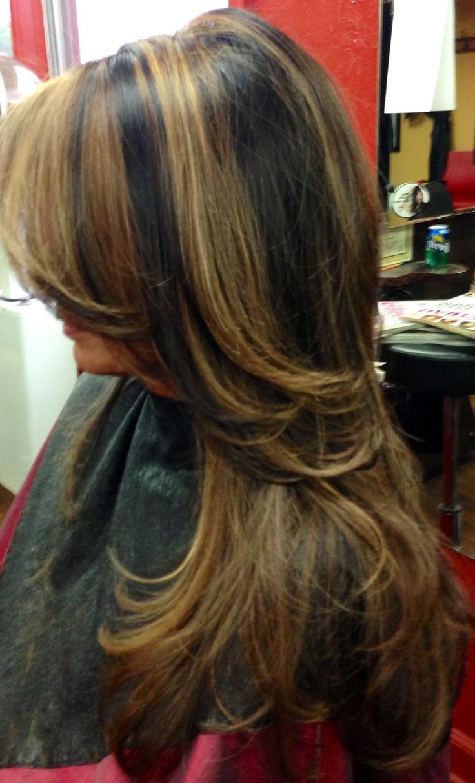 Dark Hair With Light And Caramel Highlights My Hairart