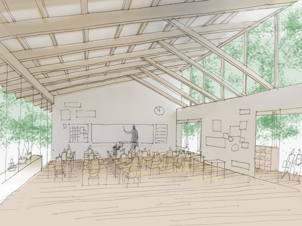 Kamaishi district school long ago, such as construction design candidate selection simple proposal | office of kumiko inui