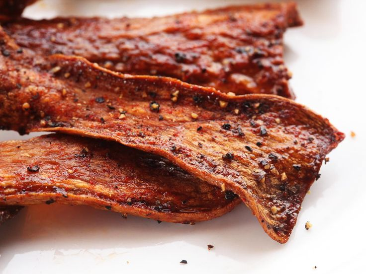 "Crispy vegan mushroom ""bacon"" that's even better than the real thing. Sweet, salty, smoky, and crisp."