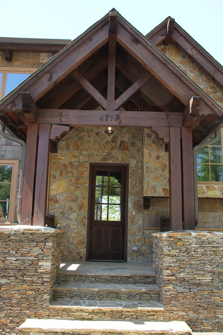 Post and beam entrance curb appeal vpc projects for Open beam front porch