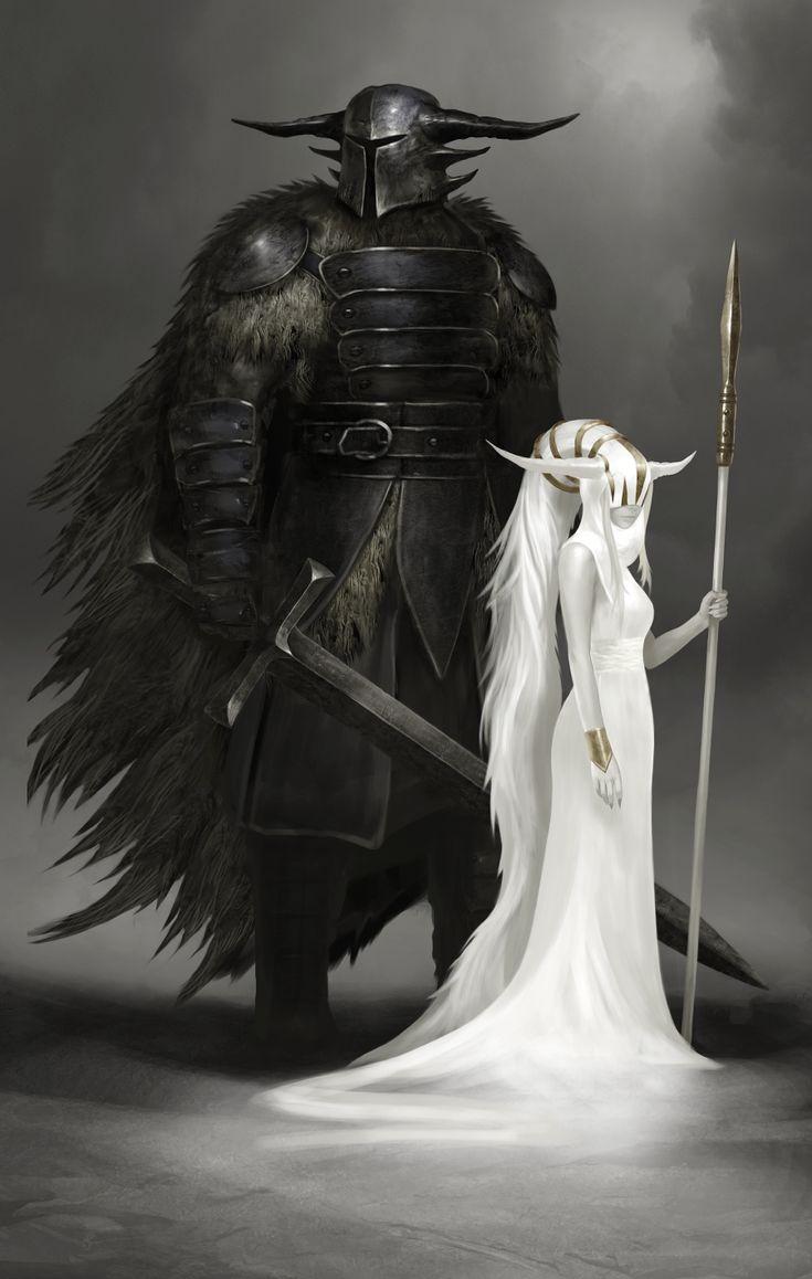 Tjorvi, deus da proteção, da familia, estabilidade, e das muralhas.  Diarf, deusa da colheita, da caça e da fertilidade.