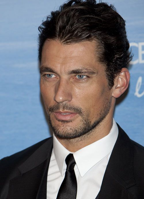 David Gandy - so very handsome - in Madrid for an event ...