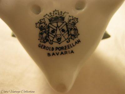 Gerold Bavaria Rose Porcelain Figurine - Cats Vintage Room